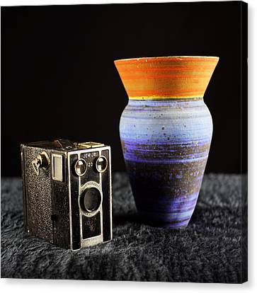 Canvas Print featuring the photograph My Dad's Camera by Jeremy Lavender Photography