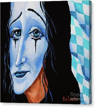 Canvas Print featuring the painting My Dearest Friend Pierrot by Igor Postash