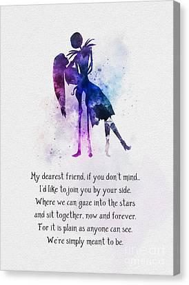 Tim Canvas Print - My Dearest Friend by Rebecca Jenkins