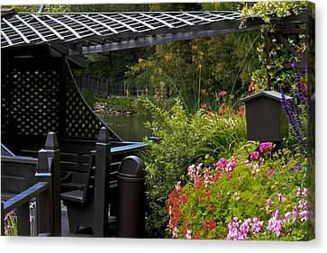 Canvas Print featuring the photograph My Deck by Ivete Basso Photography