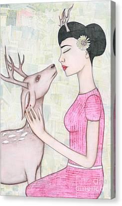 My Deer Canvas Print by Natalie Briney