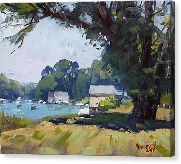 My Demonstration At Plein Air Workshop At Mayors Park Canvas Print