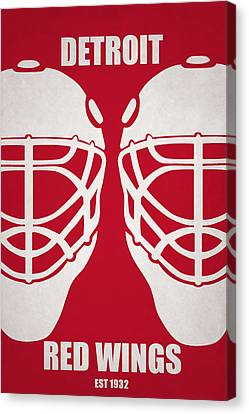 Goalie Canvas Print - My Detroit Red Wings by Joe Hamilton