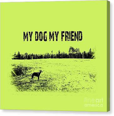Ridgeback Canvas Print - My Dog My Friend by Mim White