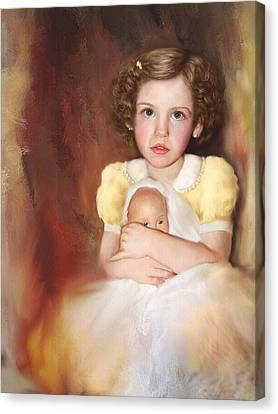 Canvas Print featuring the photograph My Dolly by Bonnie Willis