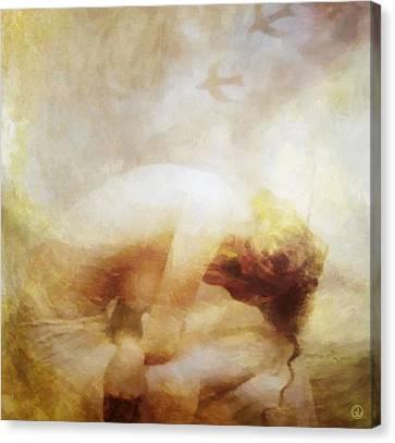 Canvas Print featuring the digital art My Dreams Fly Away by Gun Legler