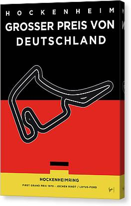 - Occupy Shanghai Canvas Print - My F1 Germany Race Track Minimal Poster by Chungkong Art
