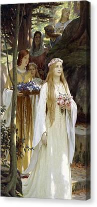 My Fair Lady Canvas Print by Edmund Blair Leighton