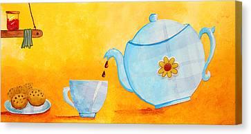 My Fancy Kitchen Canvas Print by Nirdesha Munasinghe