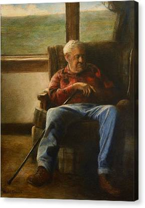 Canvas Print featuring the painting My Father by Wayne Daniels