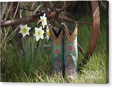 Canvas Print featuring the photograph My Favorite Boots by Benanne Stiens