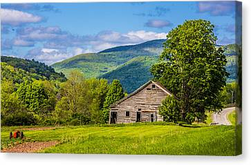 Canvas Print featuring the photograph My Favorite Cabin In The Rolling Mountains by Paula Porterfield-Izzo