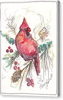 My Favorite Cardinal Canvas Print by Michele Hollister - for Nancy Asbell