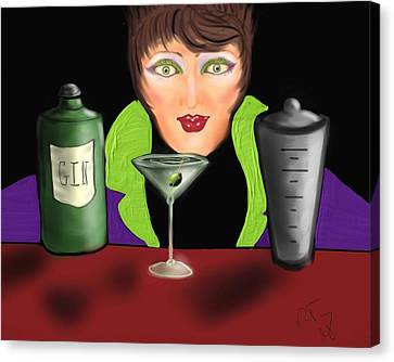 My Favorite Drink Canvas Print by Ronald Terrel