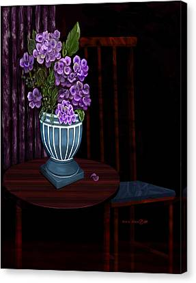 Canvas Print featuring the painting My Favorite Things by Sena Wilson