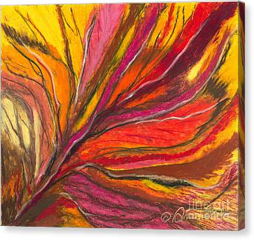 Canvas Print featuring the painting My Fever Burns by Ania M Milo