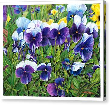 My Field Of Flowers Canvas Print by Jeanette Schumacher