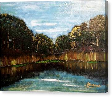 My Fishing Hole Canvas Print by Edmund Akers