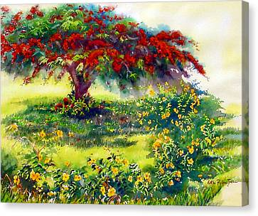 My Flamboyant Tree Canvas Print by Estela Robles