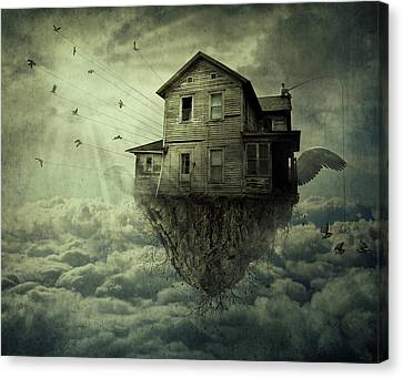 My Flying House Canvas Print by Psycho Shadow
