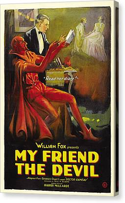 My Friend The Devil 1922 Canvas Print by Mountain Dreams