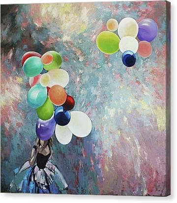 Canvas Print featuring the painting My Friend The Wind. by Anastasija Kraineva