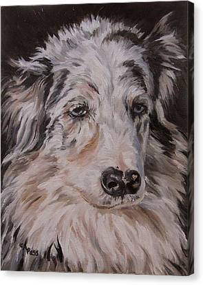 My Funny Valentine - Dog Portrait Canvas Print by Cheryl Pass