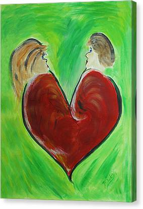 My Funny Valentine Canvas Print by Donna Blackhall