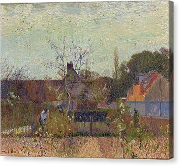 My Garden In Spring Canvas Print by Joseph Delattre