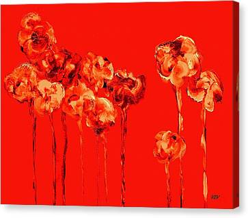 My Garden - Red Canvas Print