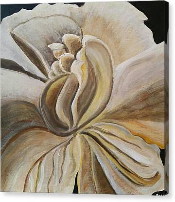 White Gardenia Canvas Print - My Gardenia  by Carol Duarte
