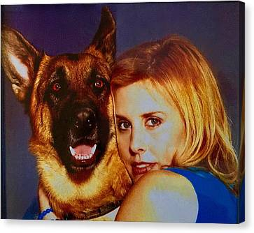 Canvas Print - My German Shepherd by Cadence Spalding