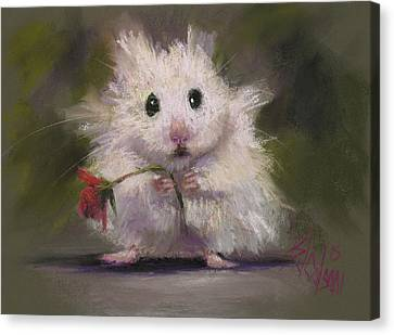 Gerbil Canvas Print - My Gift To You by Billie Colson