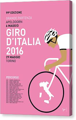 My Giro Ditalia Minimal Poster 2016 Canvas Print by Chungkong Art