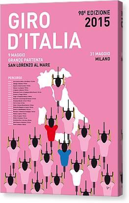 My Giro D'italia Minimal Poster Percorso 2015 Canvas Print by Chungkong Art