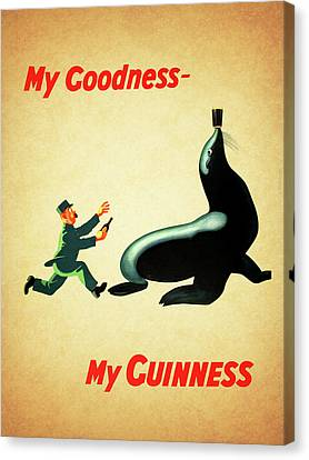 My Goodness My Guinness 1 Canvas Print by Mark Rogan