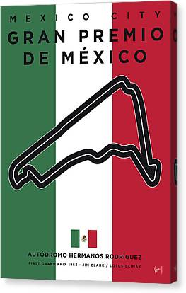 My Gran Premio De Mexico Minimal Poster Canvas Print