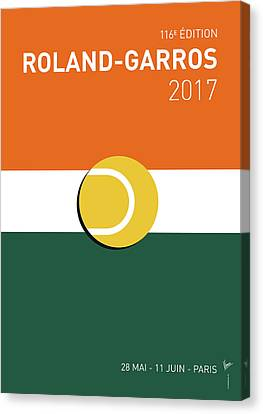 Slam Canvas Print - My Grand Slam 02 Rolandgarros 2017 Minimal Poster by Chungkong Art