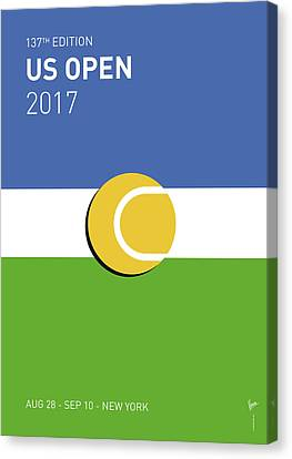 Slam Canvas Print - My Grand Slam 04 Us Open 2017 Minimal Poster by Chungkong Art