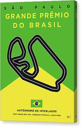 Edition Canvas Print - My Grande Premio Do Brasil Minimal Poster by Chungkong Art