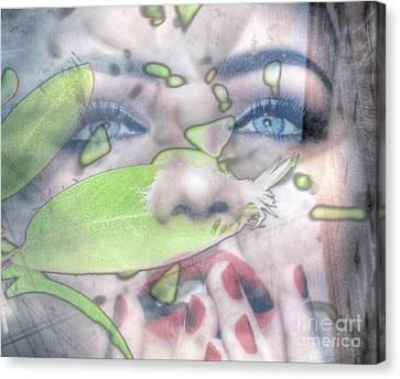 My Green Lady Canvas Print