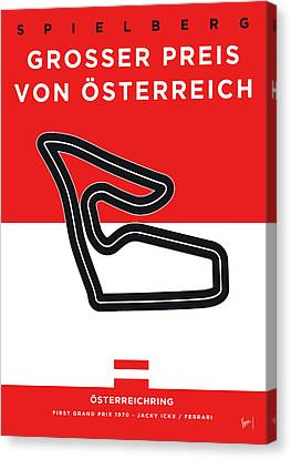 Edition Canvas Print - My Grosser Preis Von Osterreich Minimal Poster by Chungkong Art