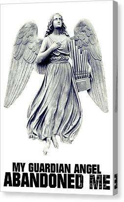 Dracula Canvas Print - My Guardian Angel Abandoned Me by Esoterica Art Agency