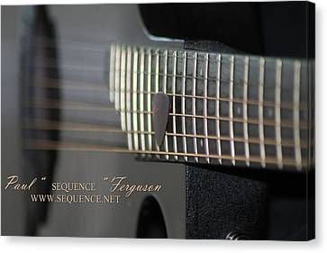 Canvas Print - My Guitar  5 2010 by Paul SEQUENCE Ferguson             sequence dot net