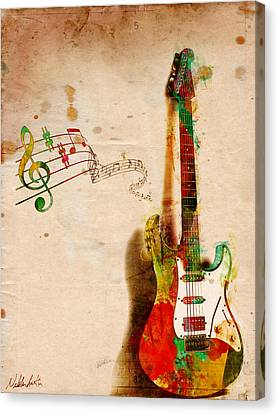 Classical Music Canvas Print - My Guitar Can Sing by Nikki Smith