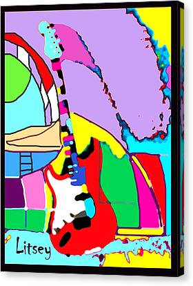 My Guitar Gently Weeps Canvas Print by International Artist Brent Litsey