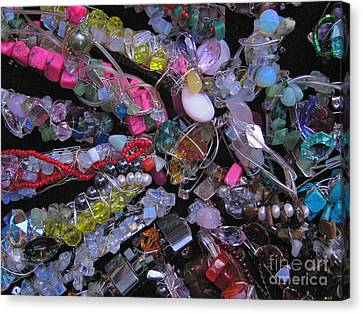 My Hair Jewels  Canvas Print by Jelena Ignjatovic