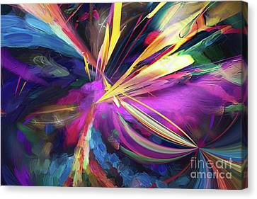 Canvas Print featuring the digital art My Happy Place by Margie Chapman