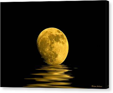 Reflection Canvas Print - My Harvest Moon by Lynn Andrews