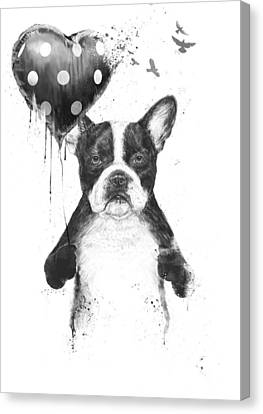 My Heart Goes Boom Canvas Print by Balazs Solti